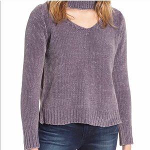Love by design Chenille choker sweater